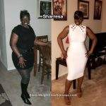 Sharresa lost 66 pounds