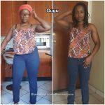 Gugu lost 16 pounds