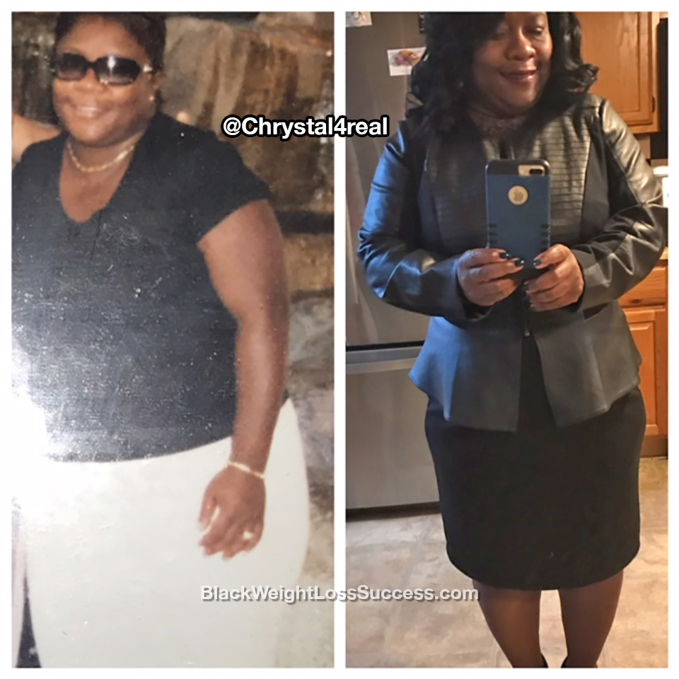 chrystal before and after