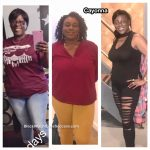 Cayonna lost 73 pounds