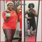 Whitney lost 18 pounds