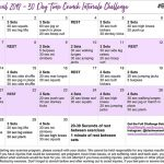 April Time Crunch Intervals Exercise Challenge
