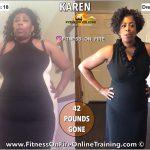 Karen lost 42 pounds