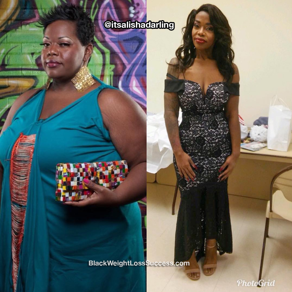 Alisha lost 180 pounds | Black Weight Loss Success