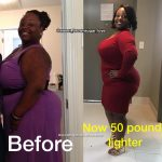 Shatina lost 50 pounds