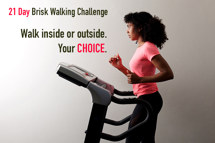 21 day brisk walking challenge