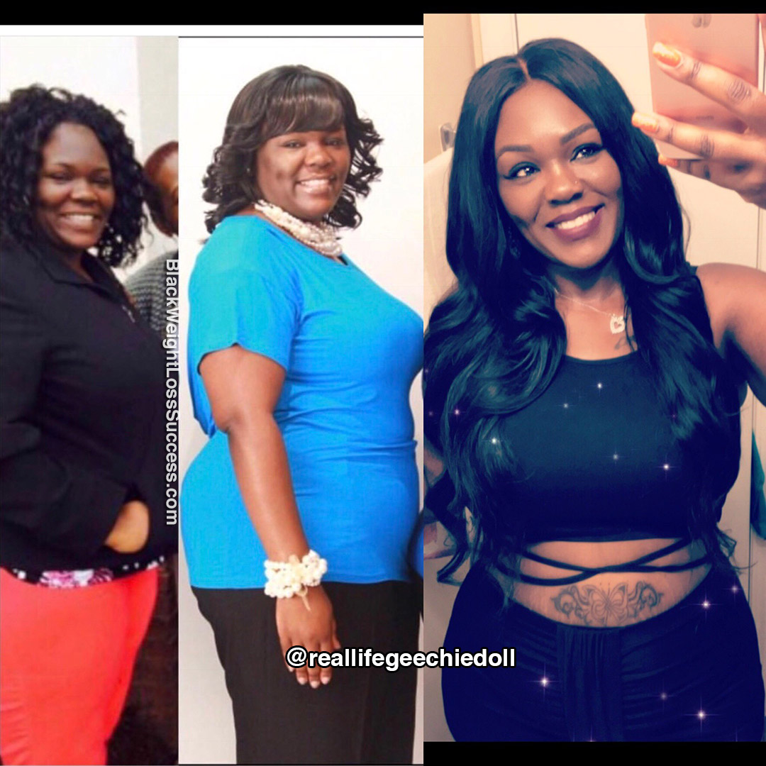 Malika before and after