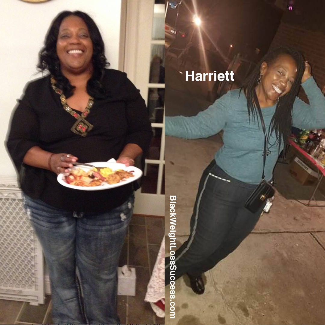 Harriet before and after