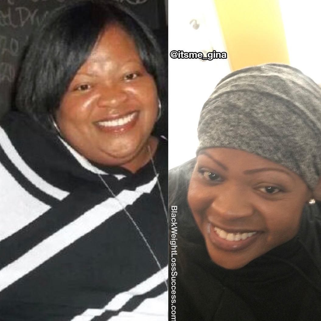 Gina before and after