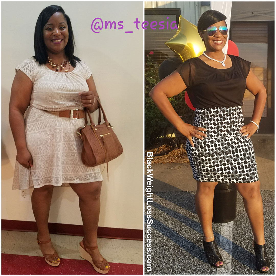 Teesia before and after