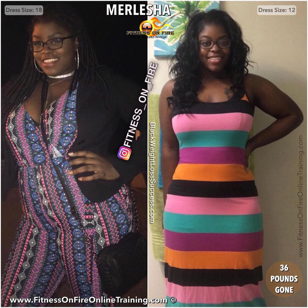 Merlesha before and after