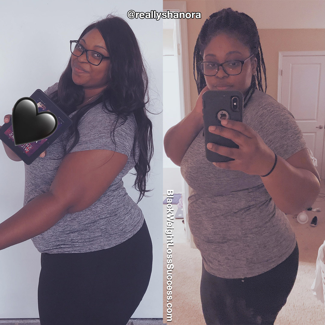 Shanora before and after