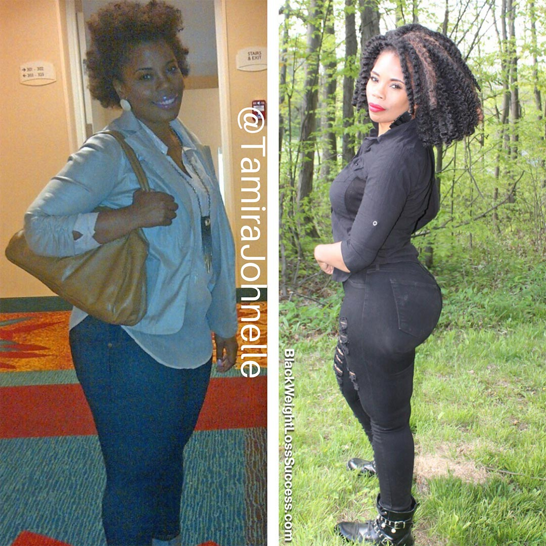 Tamira before and after