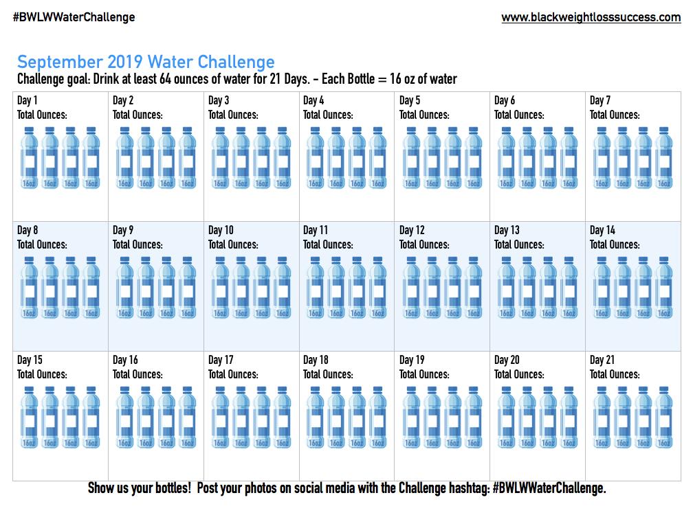 BWLW Water Challenge Calendar
