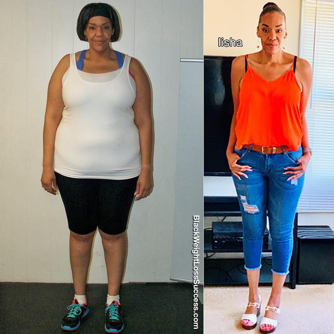 Iisha before and after
