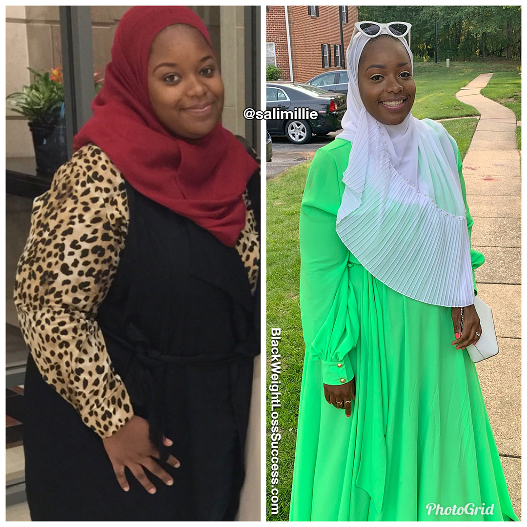 Salihah before and after