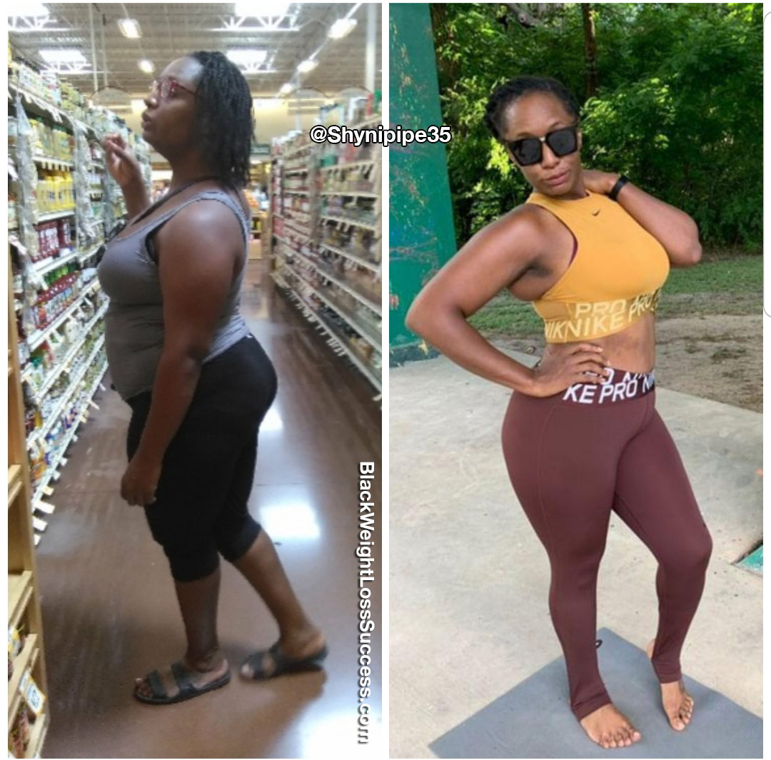Lashea before and after