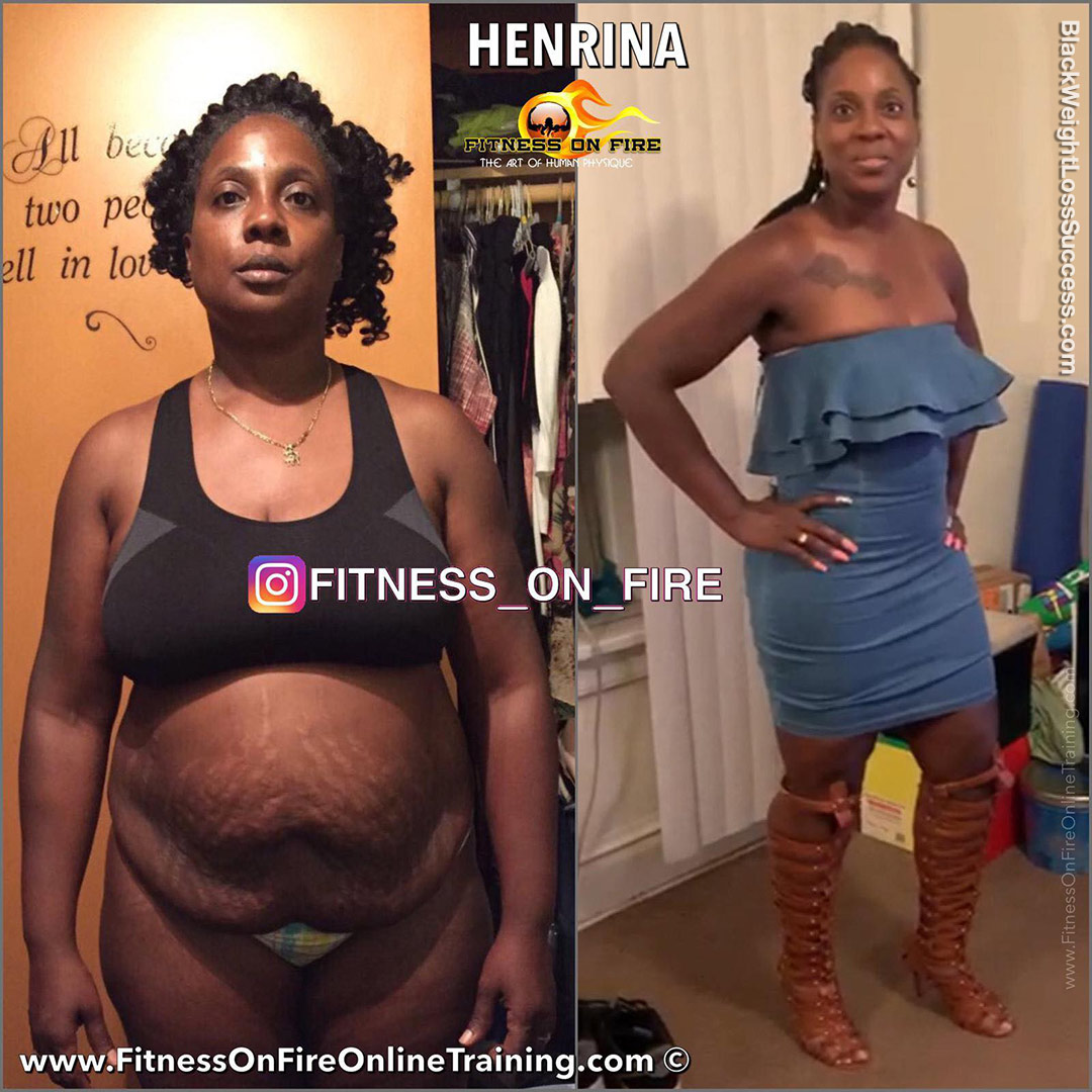 Henrina before and after