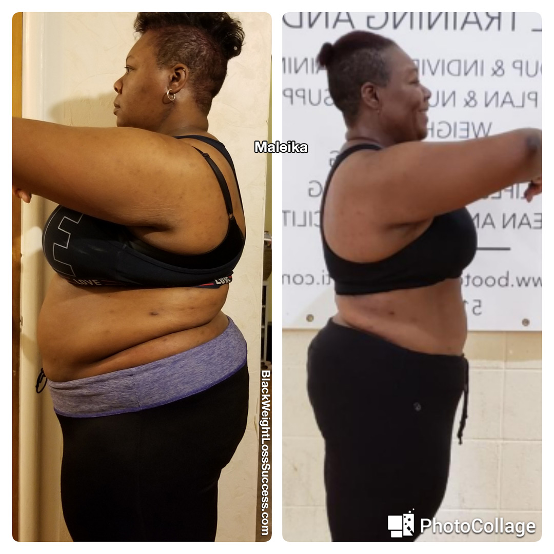 Maleika before and after
