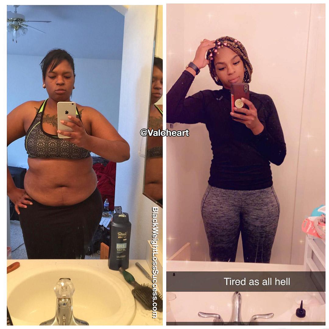 Shawana lost 20 pounds   Black Weight Loss Success