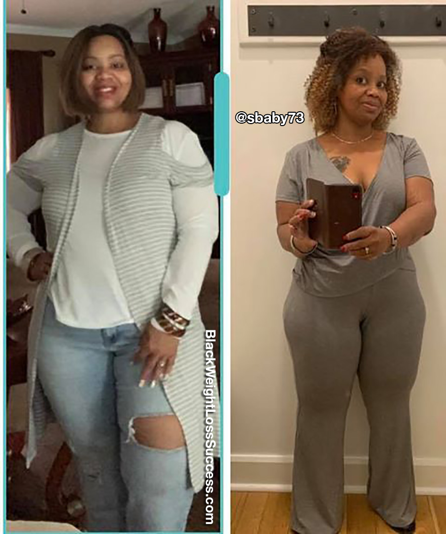 Saundra before and after