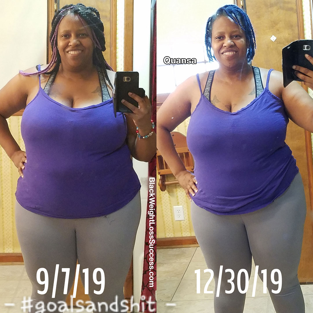 Quansa weight loss story