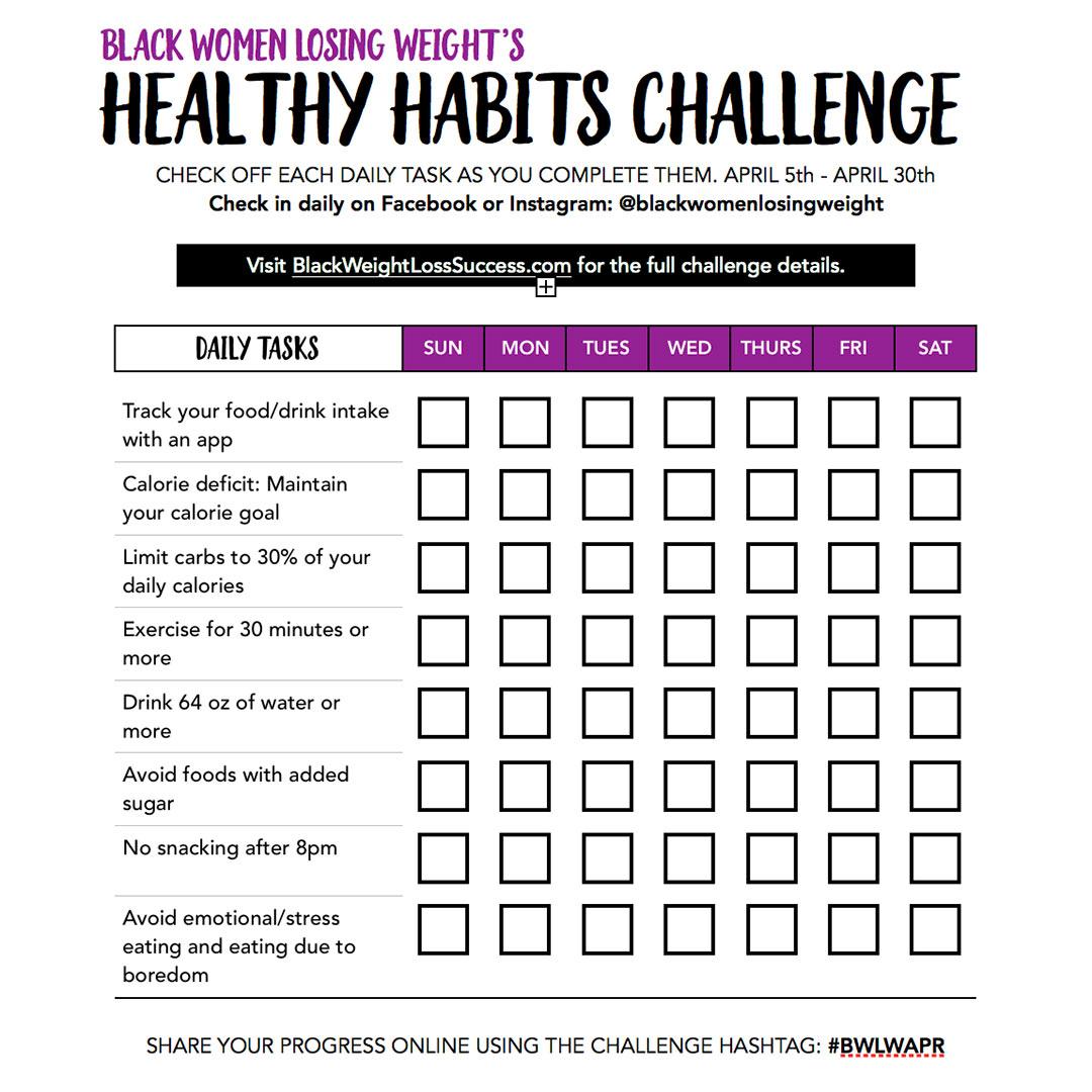 April habits challenge