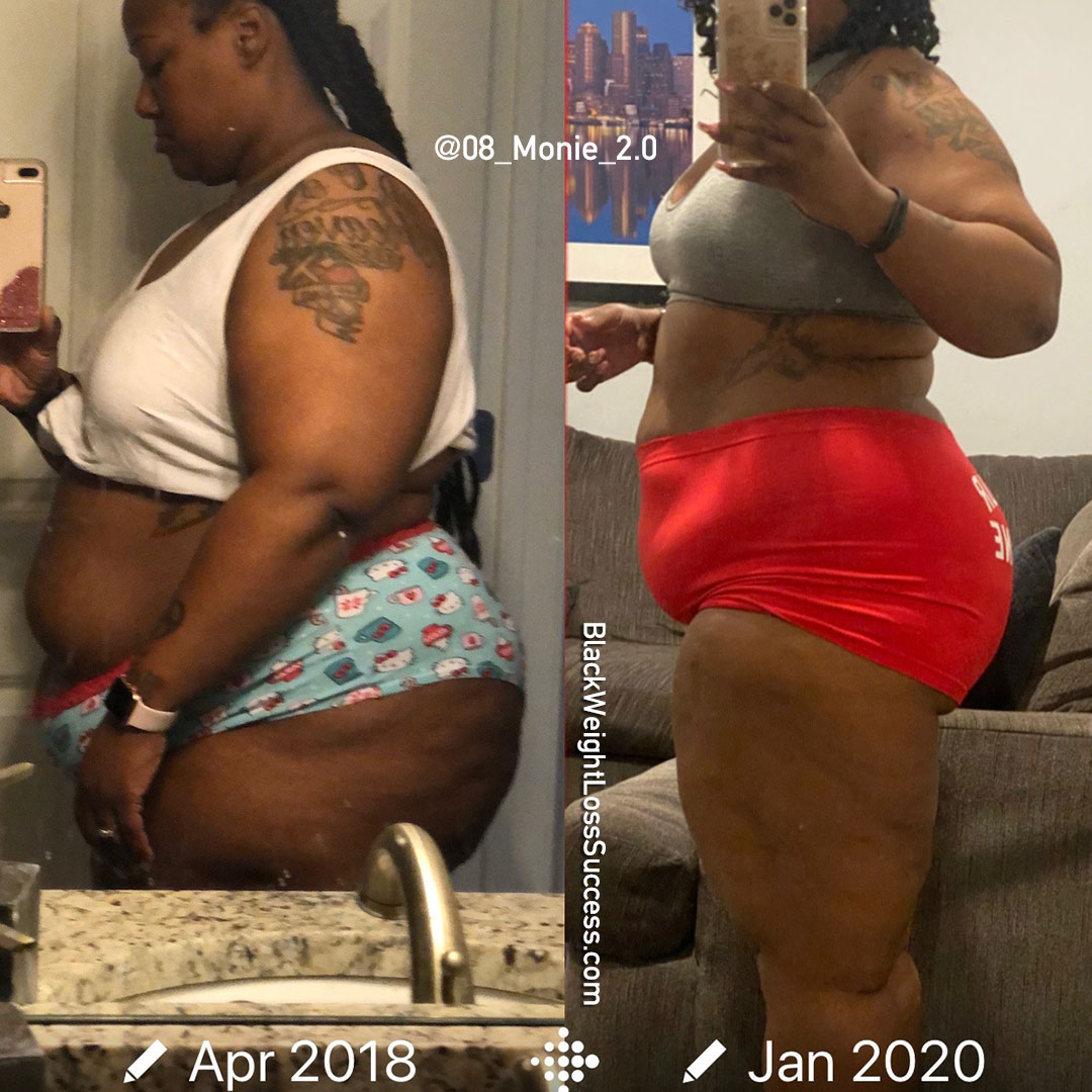 Emonie before and after