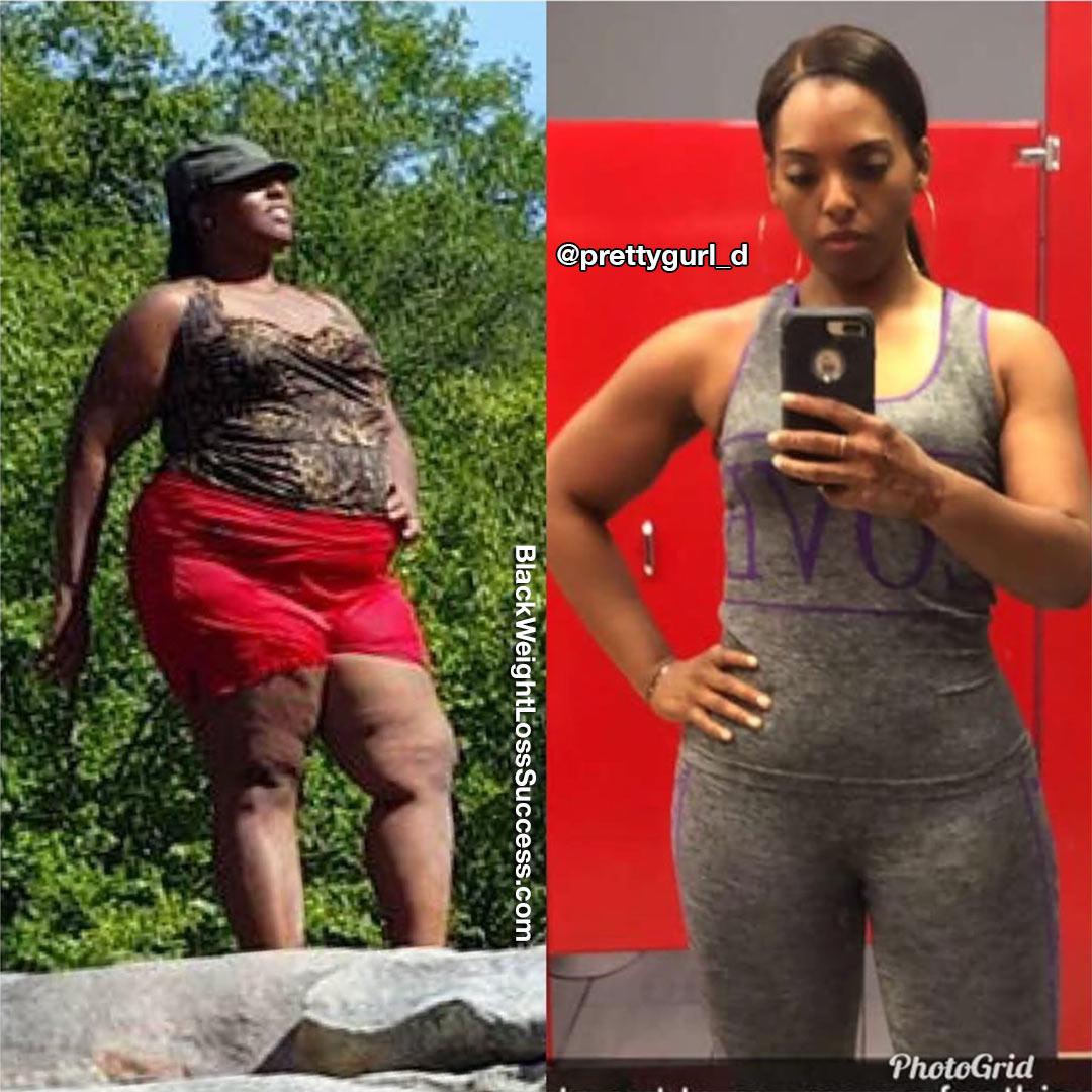 Shadericka before and after