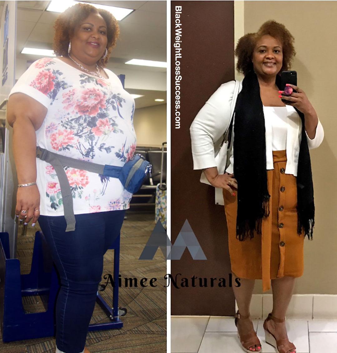 Aimee perdeu 103 libras | Sucesso de perda de peso preto 18