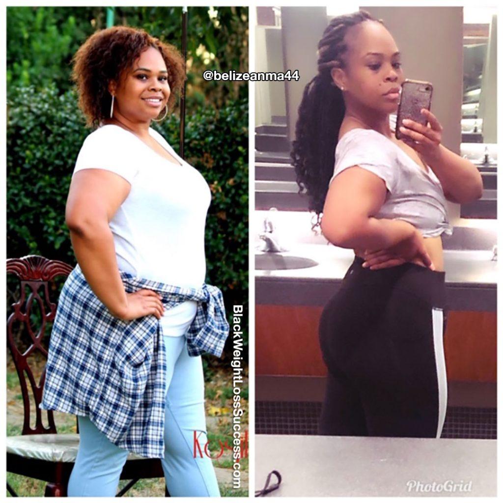 Aloma perdeu 67 libras   Sucesso de perda de peso preto 19