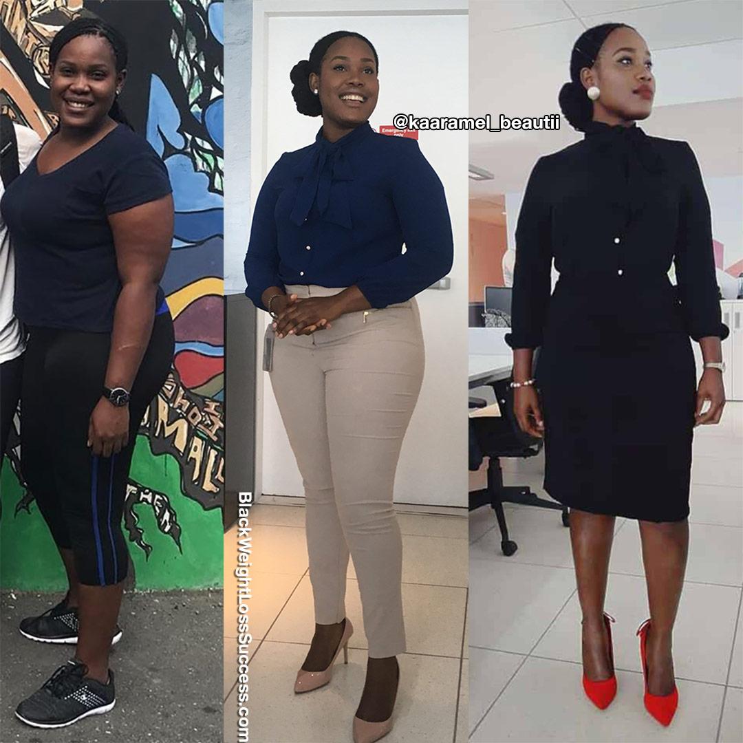 Sashauna perdeu 47 quilos | Sucesso de perda de peso preto 23