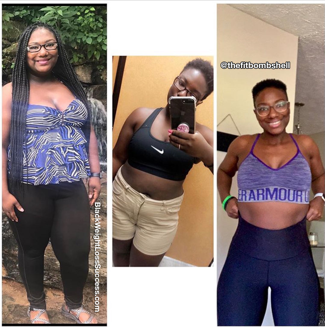 Shadonna perdeu 76 libras | Sucesso de perda de peso preto 30