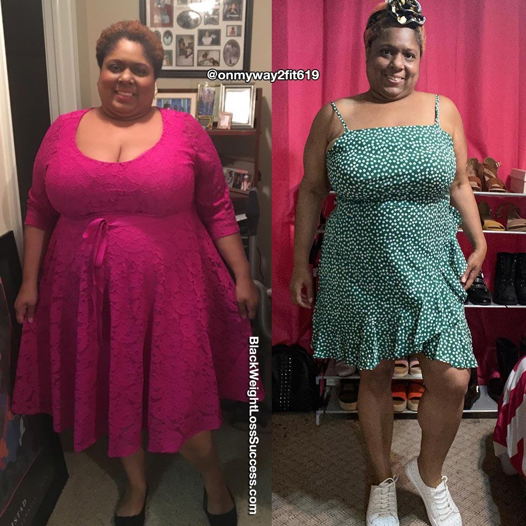 Vicki perdeu 76 libras | Sucesso de perda de peso preto 24