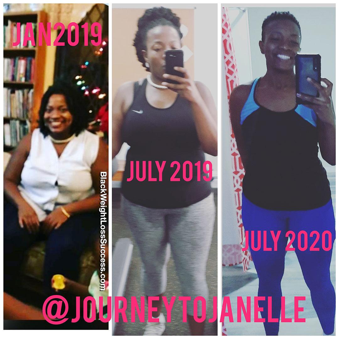 Janelle antes e depois
