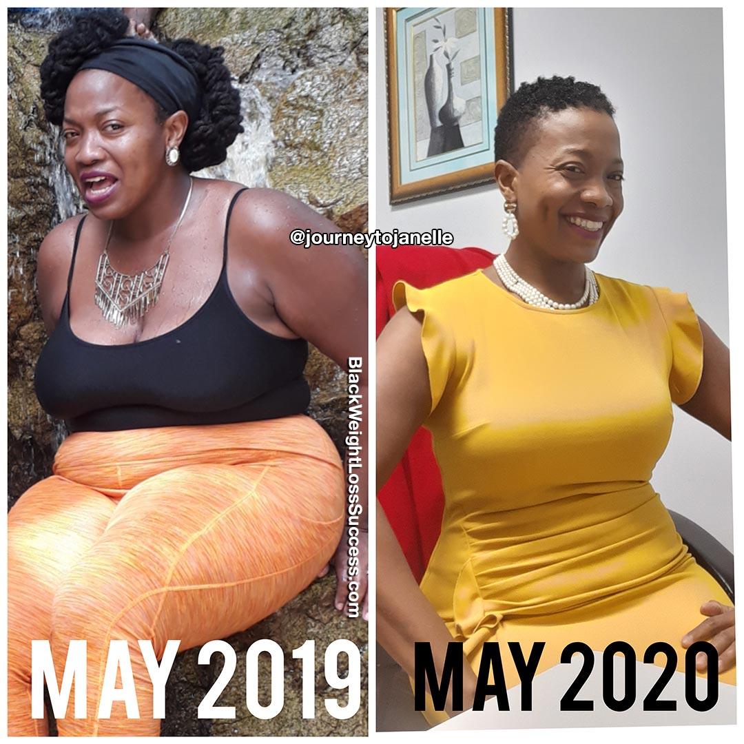 Janelle perdeu 93 libras