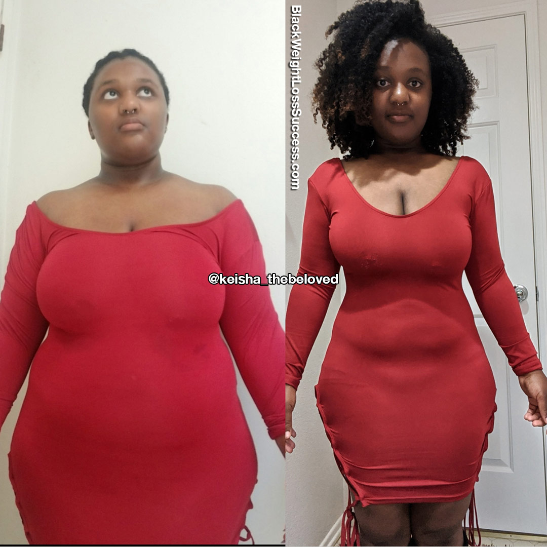 Keisha before and after