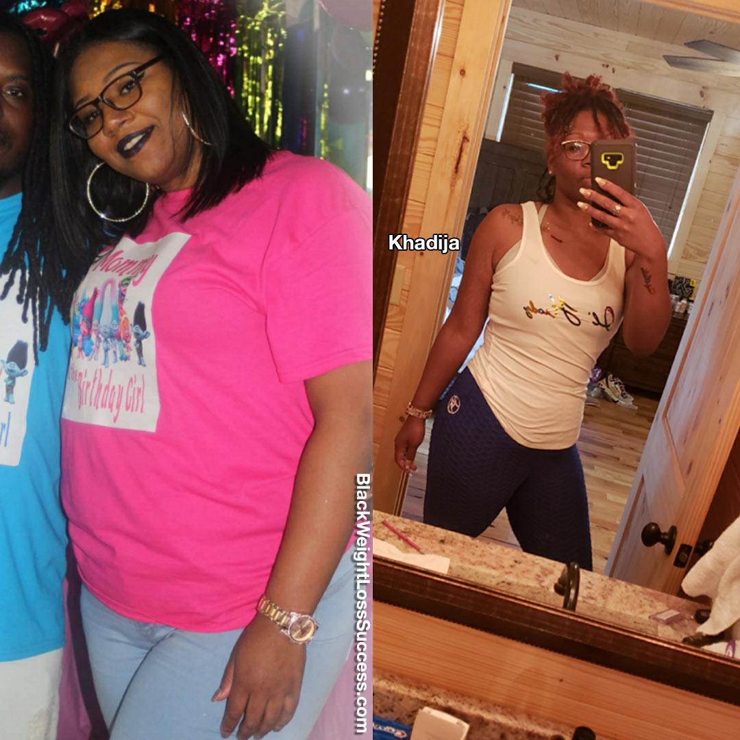 Khadija lost 40 pounds