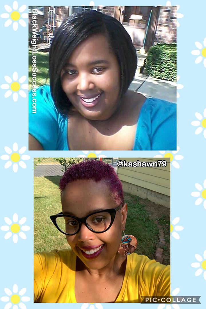 Kashawn antes e depois