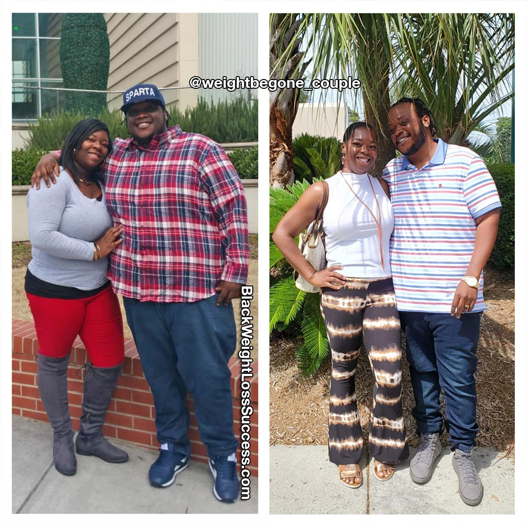 Weight loss couple before and after