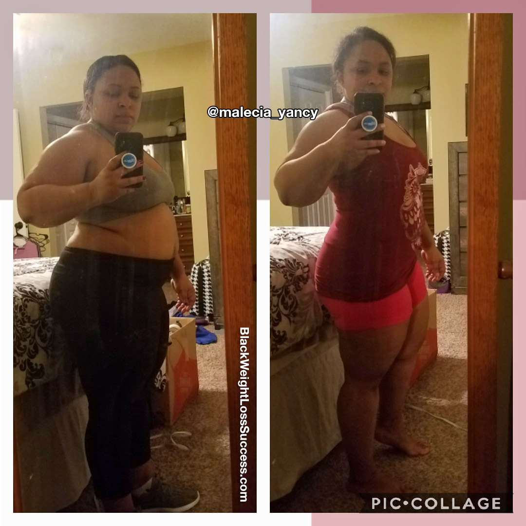 malecia before and after