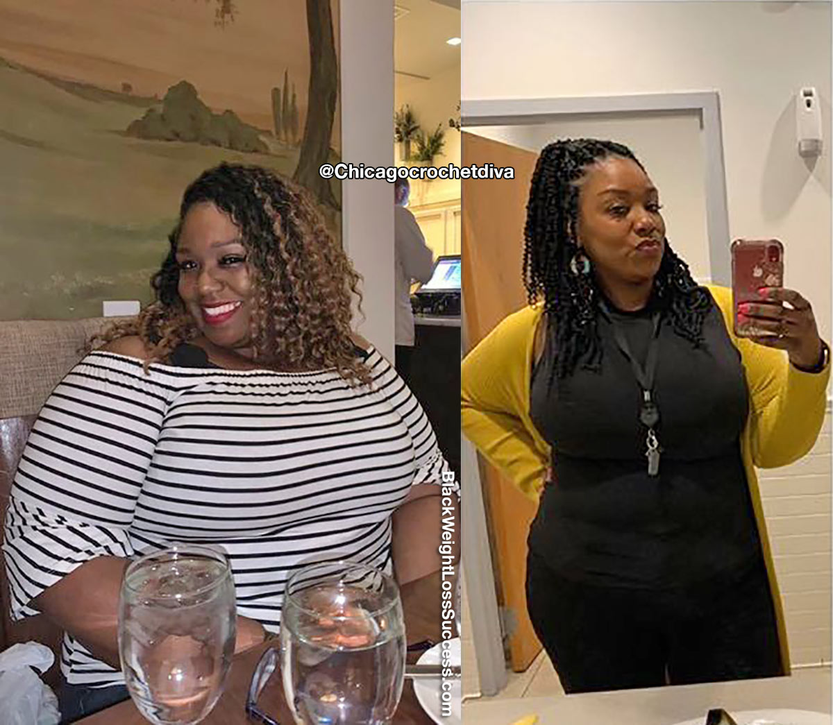 Nicole antes e depois