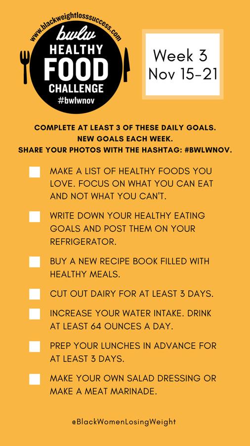 November healthy food goals