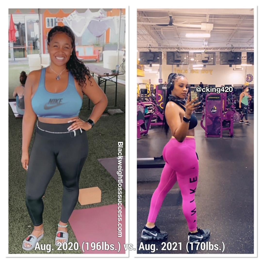 Chelse lost 60 pounds