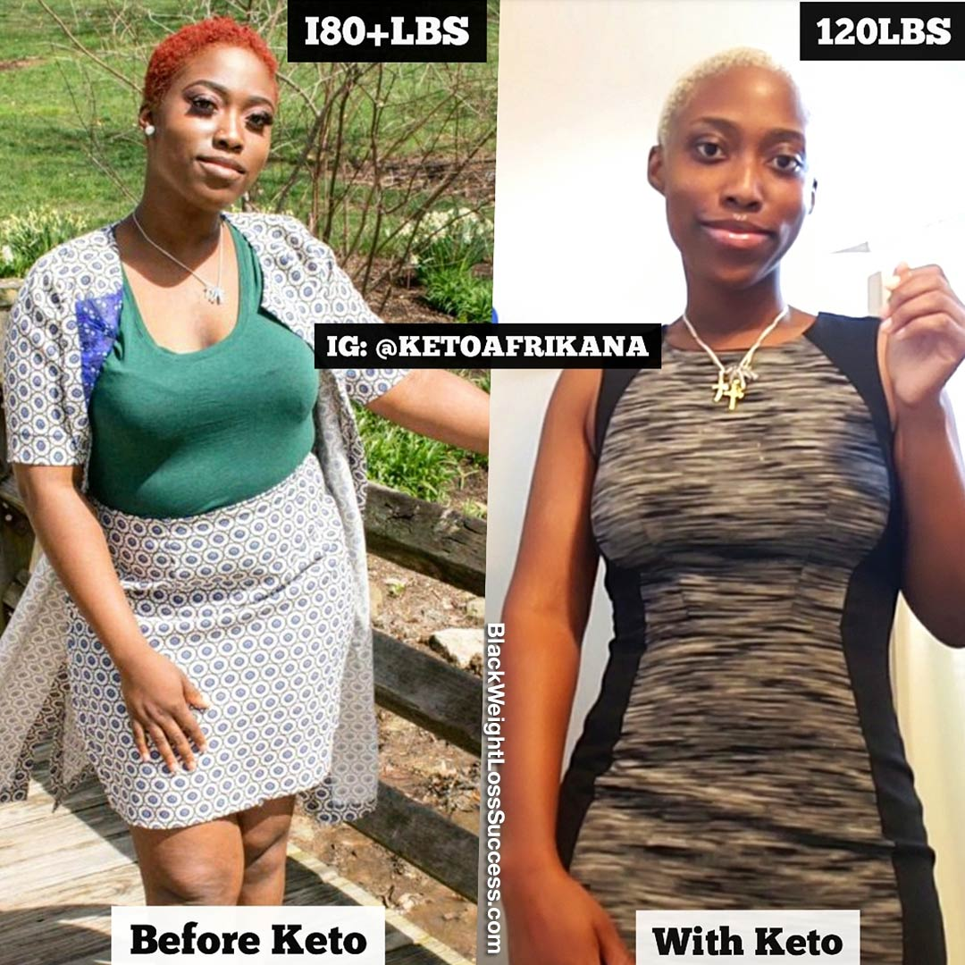 Kehinde before and after