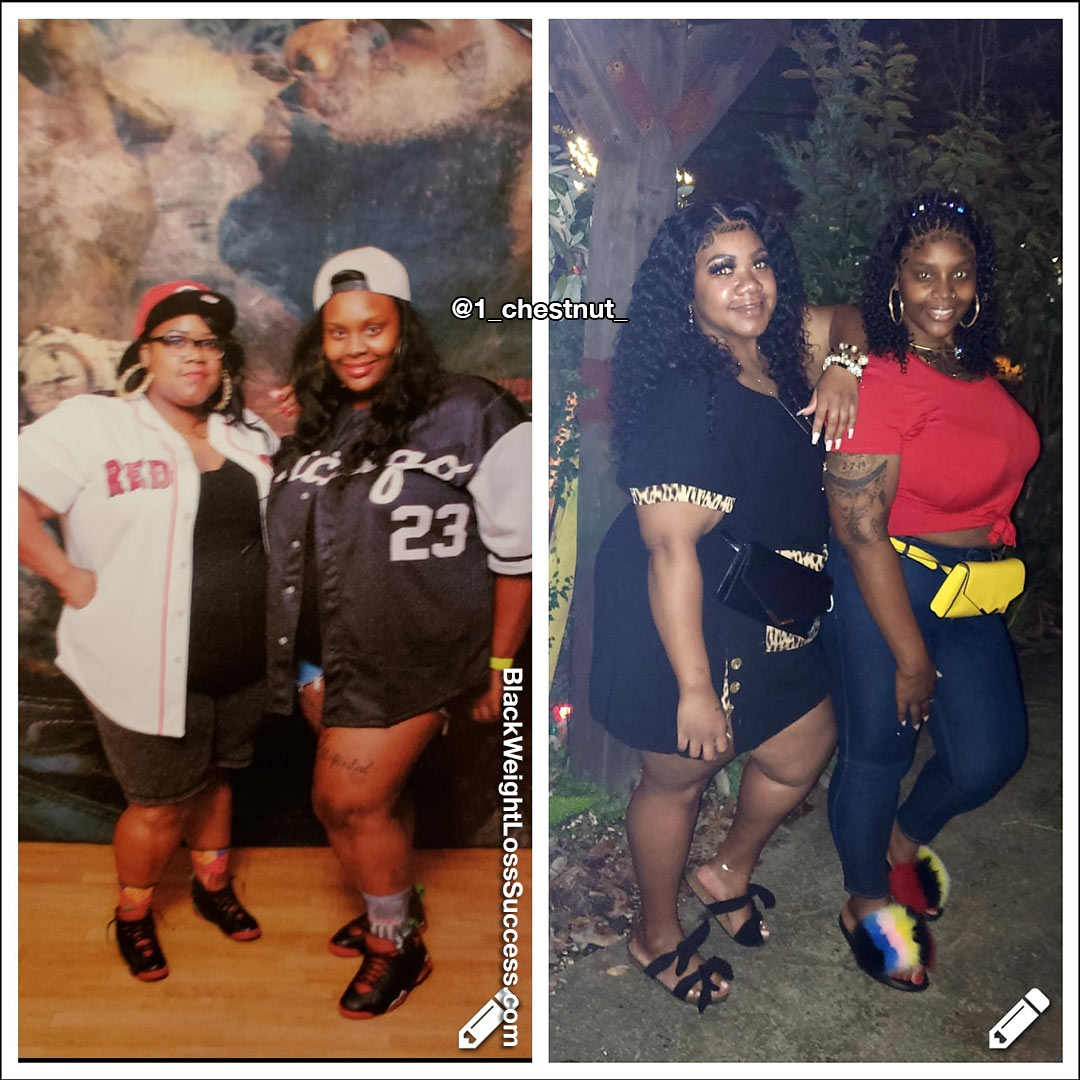 Chastity and Mel before and after