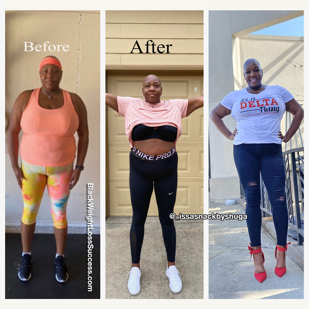 Jacquesha lost 20.20 pounds   Black Weight Loss Success