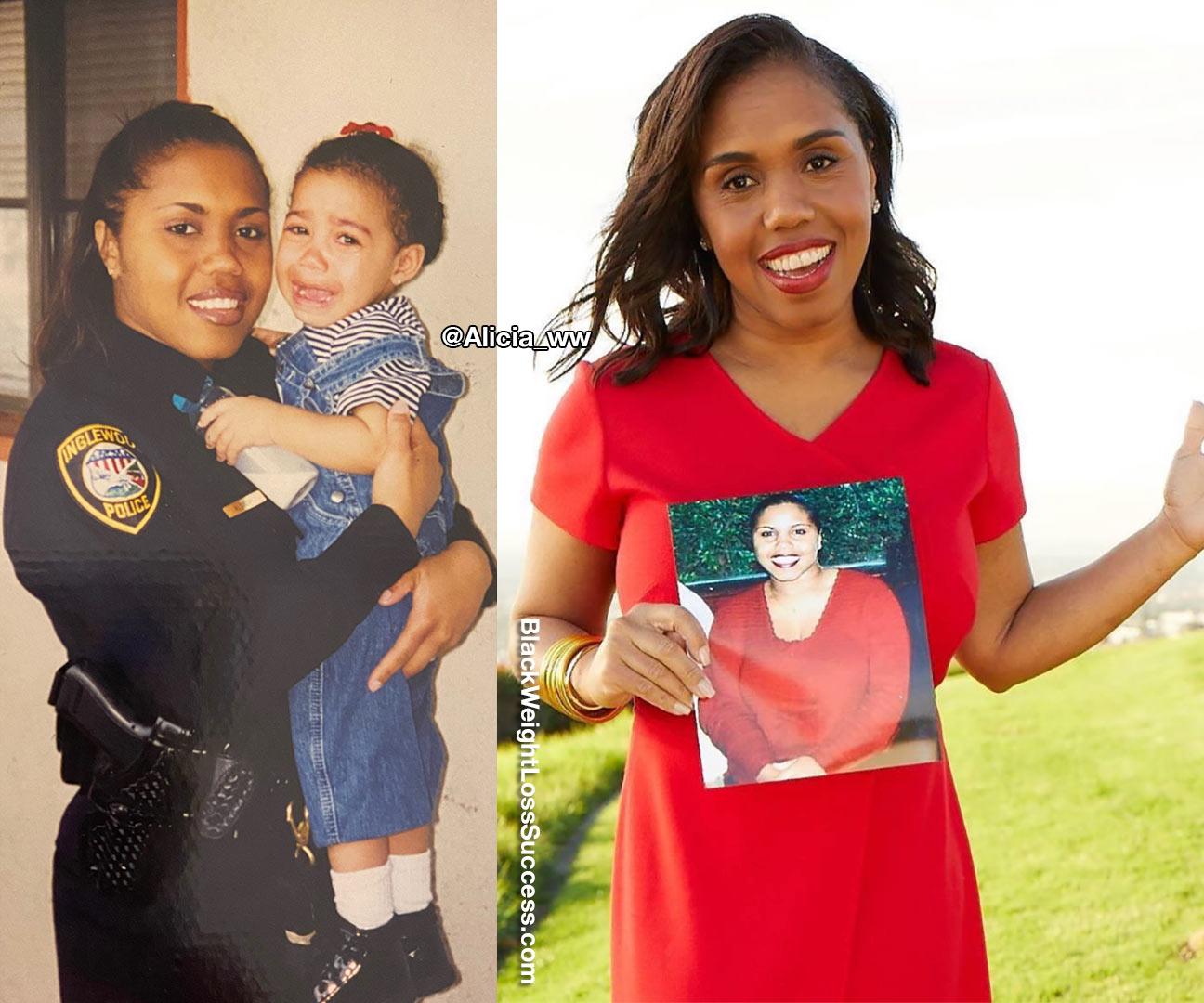 Alicia antes e depois