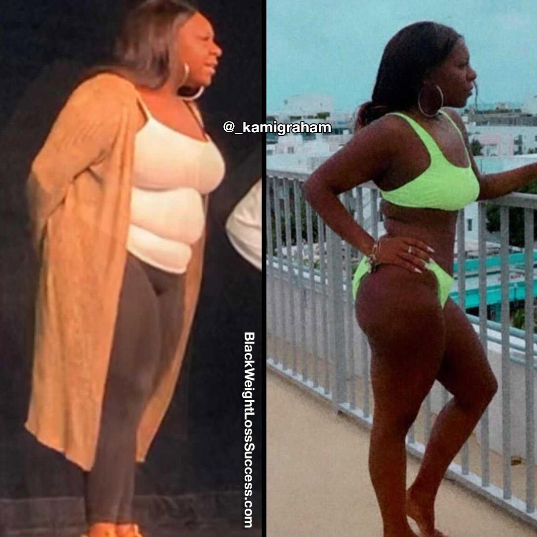 Kami antes e depois