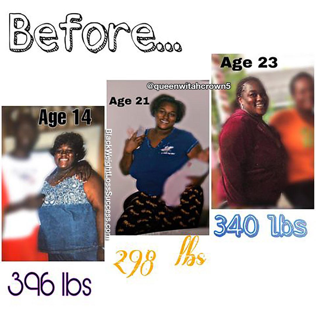 Whitney antes da perda de peso